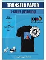 "PPD Inkjet Iron-On Dark T Shirt Transfer Paper 11x17"" Pack of 10 (PPD-107-10)"