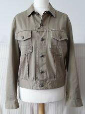 LEE COOPER Men's Denim Jacket Large Khaki Military Army Vintage Retro Bowler