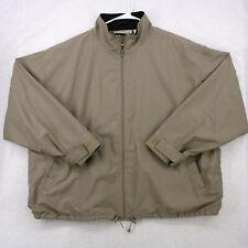 GRAND SLAM MUNSINGWEAR PENGUIN Beige Full Zip Windbreaker Golf Jacket Men's 2XL