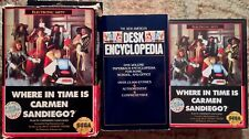 Where In Time Is Carmen Sandiego? Big Box Complete w/ Encyclopedia Sega Genesis