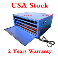 USA! 25 x 23in 110V 800W 4 Layers Screen Printing Drying Cabinet Warming Machine