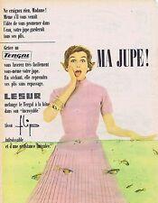 PUBLICITE ADVERTISING 045 1956 LESUR ma jupe en tergal de laine