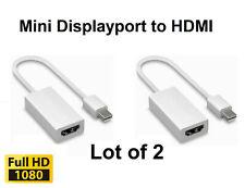 Lot of 2 Thunderbolt Mini Displayport To HDMI Adapter for MacBook Air Pro iMac