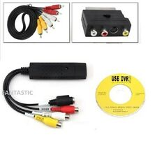 USB VHS a Convertitore Video / DVD Convertitore/Cattura Completo Scart Kit +Cavi