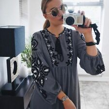 Any Occasion Long Sleeve Dresses for Women with Embroidered