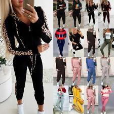 Damen Trainingsanzug Hoodie Hausanzug Sweatshirt Hose Fitness Sport Jogginganzug