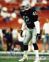 RONNIE LOTT PSA DNA COA Autograph 8x10 Raiders Photo  Hand Signed Authentic