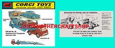 Corgi Vintage Manufacture Diecast Car Transporters