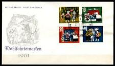 """Brüder Grimm. Märchen: """"Hensel und Gretel"""". FDC (5). BRD 1961"""