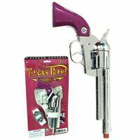 Cowgirl Metal Texas Rose Pink Cap Gun Replica Revolver Pistol With Holster