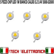 5x Chip led 1W bianco caldo 3.2V 3.6V alta luminosità 3000-3200k