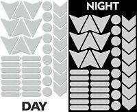 40 Adesivi Rifrangenti Riflettenti Sicurezza Reflective Sticker Auto Bici Bianco