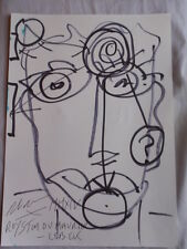 Royston Du Maurier-Dibujo Original LEBEK firmado Fieltro Punta Pluma de la cara en papel (u)