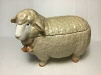 Vintage Otagiri Sheep Cookie Jar 1983 Made In Japan (READ DESCR)