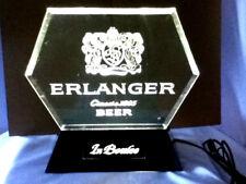 Schlitz beer sign Erlanger vintage 60's tavern back bar lighted bar display Dc7