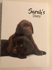 2020 diary personalised with your name Two Chocolate Labradors A5