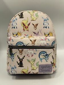 Loungefly Pokemon Eevee Watercolor Evolution mini backpack New w/ Tags B/11