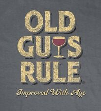 "OLD GUYS RULE "" IMPROVED WITH AGE "" WINE WINERY  BEACH S/S T-SHIRT SIZE XL"