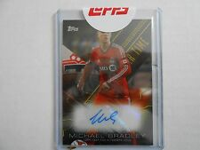 2015 Topps MLSoccer Michael Bradley Extra Time Autographed Card Toronto FC 18/99