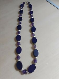 Amethyst & Wooden Bead Necklace