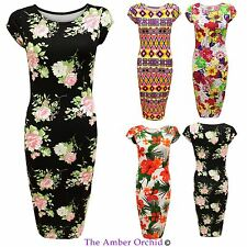 Calf Length Crew Neck Casual Floral Dresses for Women