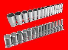 """32mm YT Kurze 1//2/"""" Stecknuss Steckschlüssel Satz 6-KANT Nuss Gr 15 tlg 8mm"""