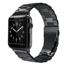 Simpeak Edelstahl Band Armband für Apple Uhr 42mm Serie 1 2 3 schwarz