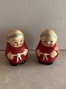 Hummel Goebel Red Cardinal Tuck Friar Monk Salt and Pepper Shakers - Rare