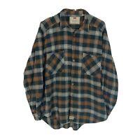 Levis Vtg Silver Tab LS Plaid Shirt Mens XL Heavyweight 100% Cotton