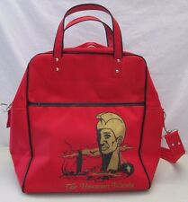 Vintage Hawaiian Islands Airline Carry On Luggage Original Travel Bag Red USA