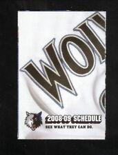 Minnesota Timberwolves--2008-09 Pocket Schedule--Bud Light