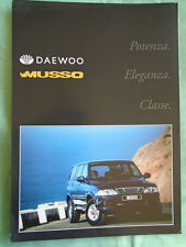 Daewoo Musso brochure c1999 German text