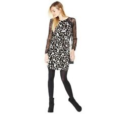 BNWT V by Very Floral Print Lace Raglan Tea Dress Size 12 Stretch RRP £32