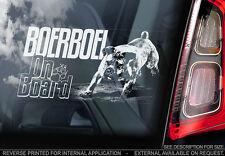 Boerboel - Car Window Sticker - Dog Sign -V04