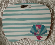 """NEW Cute Lap Desk Fits Up to 14"""" Laptop Wooden Top Microbead Cushion Mermaid"""