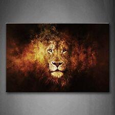 Lion Head Portrait Wall Art Picture Print Canvas Animal Photo Frame Home Decor