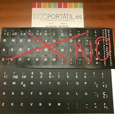 Sticker spanish keyboard not Chinese Fine quality vinyl. look at the comparative!