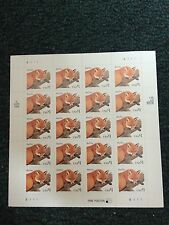 U.S.  20 Stamps Of Red Fox Scott #3036  2 Lines Running Through The $ Sign.