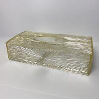 Vintage 1950s Lucite Tissue Box Cover Holder Starburst Celebrity Plastic Retro