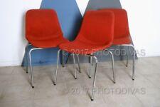 "Set ""3"" sedie fisse vintage anni 60 ufficio"