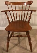 SET OF 6 ETHAN ALLEN NUTMEG MAPLE COMB BACK WINDSOR CHAIRS 10-6040