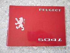 PEUGEOT 504 L Carnet entretien Français-Allemand-Italien-Néerlandais