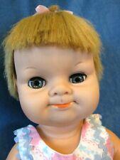 "18"" Blabby, Uneeda Baby Doll, Mouth opens & She Squeaks (talks), sleep eyes"