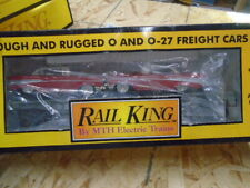 MTH RAILKING FLAT CAR W/2 FIRE CHIEF CARS,RAILKING 30-7623