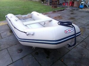 Used sun sport inflatable boat, 3.2mt, Good Condition.
