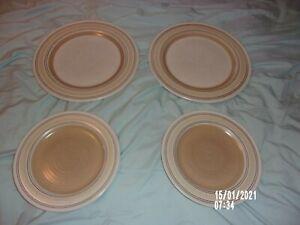 PFALTZGRAFF PLATES LOT 4 LATTE PATTERN 2 CAPPUCCINO DINNER PLATES 2 MOCHA SALAD