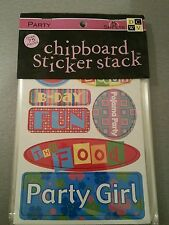 """DCWV CHIPBOARD STICKER STACK """" PARTY """""""