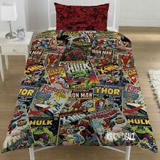 Marvel Comics Single Duvet Cover Bed Set POLYCOTTON Avengers Xmen Spiderman