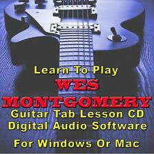 WES MONTGOMERY Guitar Tab Lesson CD Software - 37 Songs