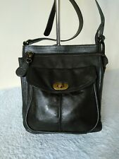Clarks Ladies Soft Leather Small Dark Brown Shoulder Cross Body Handbag #21